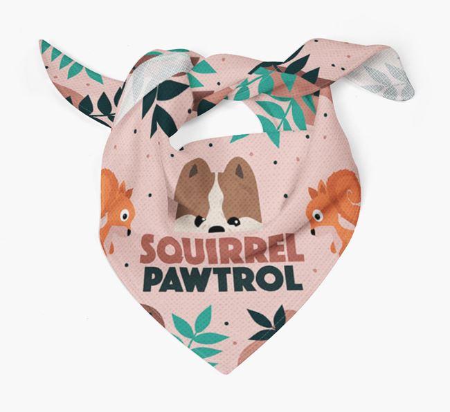 'Squirrel Pawtrol' - Personalised Pomeranian Bandana