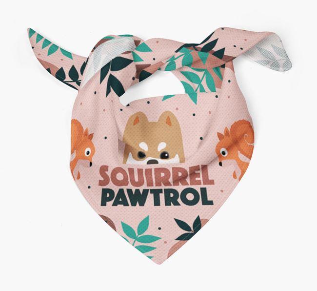 'Squirrel Pawtrol' - Personalised Pomsky Bandana