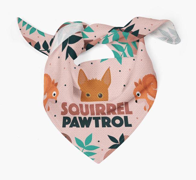 'Squirrel Pawtrol' - Personalised Portuguese Podengo Bandana