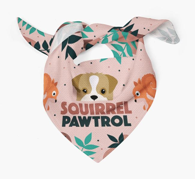 'Squirrel Pawtrol' - Personalised Pugapoo Bandana