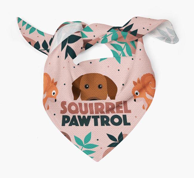 'Squirrel Pawtrol' - Personalized Rhodesian Ridgeback Bandana