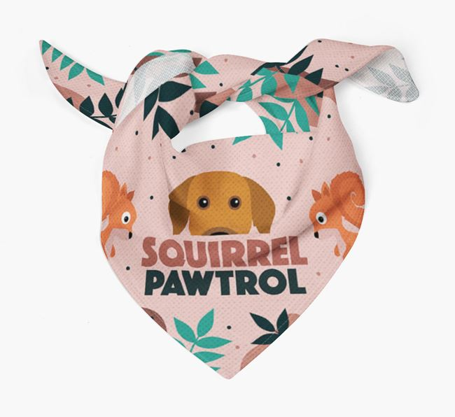 'Squirrel Pawtrol' - Personalised Rhodesian Ridgeback Bandana
