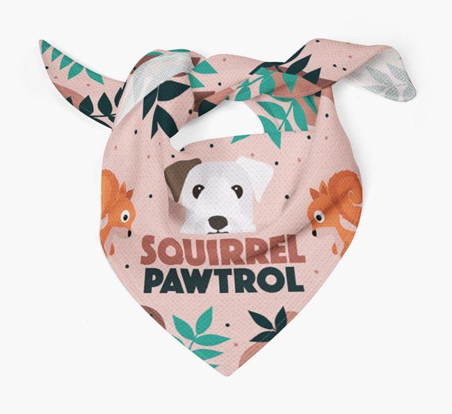 'Squirrel Pawtrol' - Personalised Sealyham Terrier Bandana