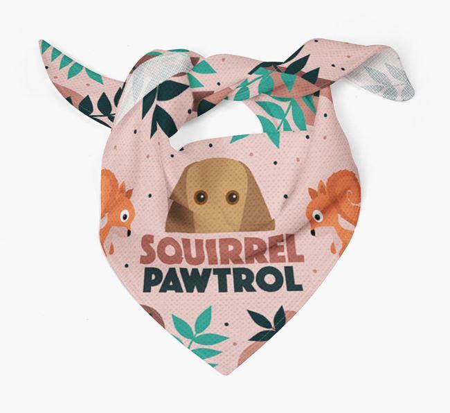 'Squirrel Pawtrol' - Personalised Segugio Italiano Bandana