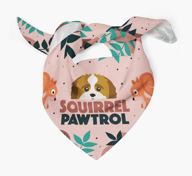 'Squirrel Pawtrol' - Personalised Shih-poo Bandana