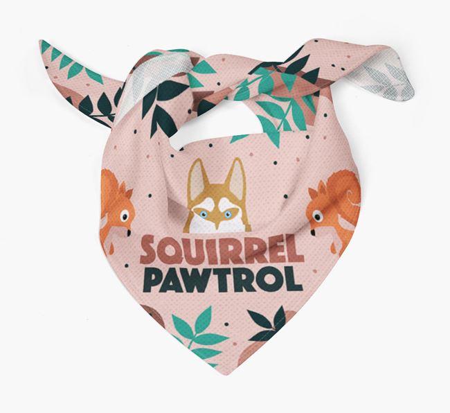 'Squirrel Pawtrol' - Personalised Siberian Husky Bandana