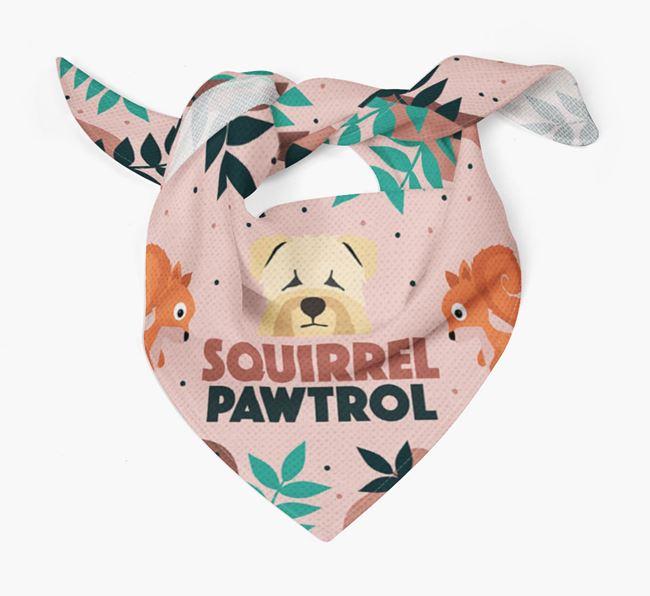 'Squirrel Pawtrol' - Personalised Soft Coated Wheaten Terrier Bandana