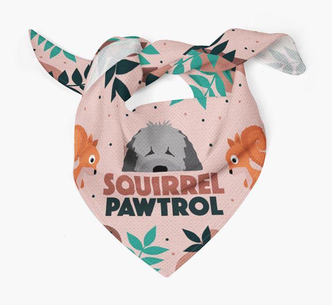 'Squirrel Pawtrol' - Personalized Spanish Water Dog Bandana