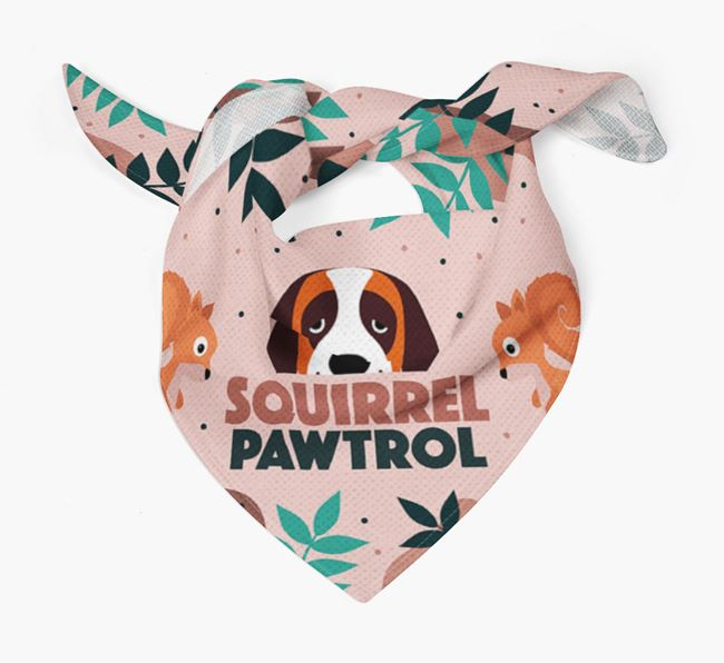 'Squirrel Pawtrol' - Personalised St. Bernard Bandana