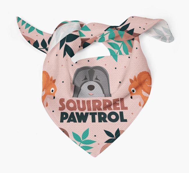 'Squirrel Pawtrol' - Personalized Tibetan Terrier Bandana