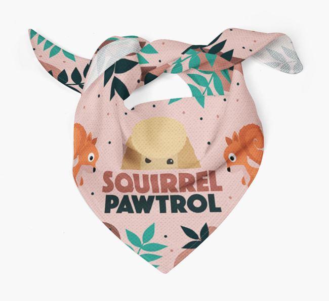 'Squirrel Pawtrol' - Personalised Toy Poodle Bandana