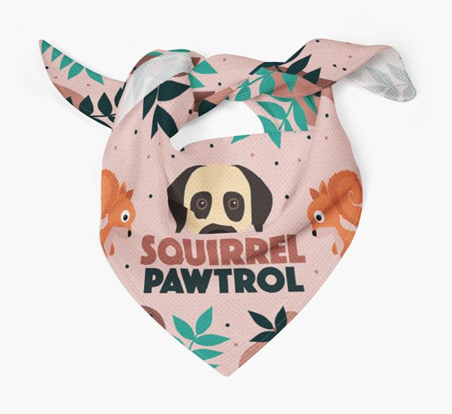 'Squirrel Pawtrol' - Personalised Turkish Kangal Dog Bandana