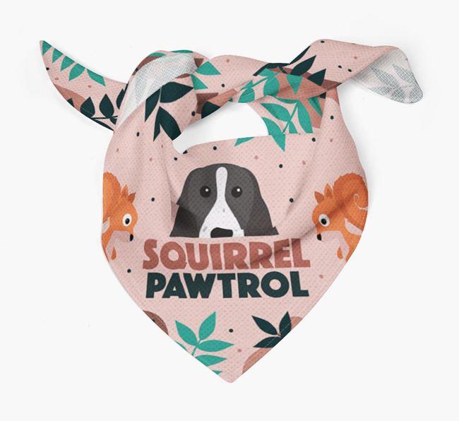 'Squirrel Pawtrol' - Personalised Welsh Springer Spaniel Bandana