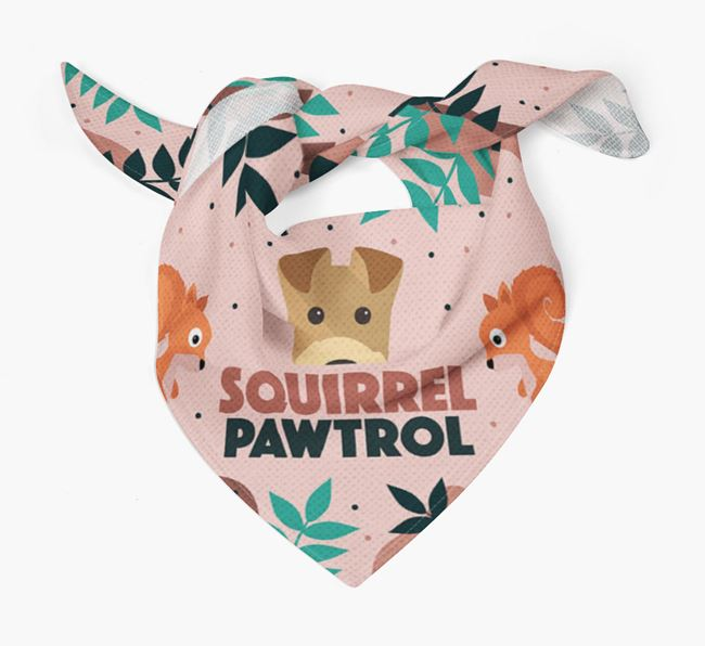 'Squirrel Pawtrol' - Personalised Welsh Terrier Bandana