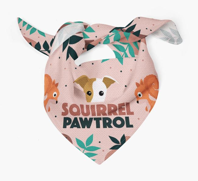 'Squirrel Pawtrol' - Personalised Whippet Bandana