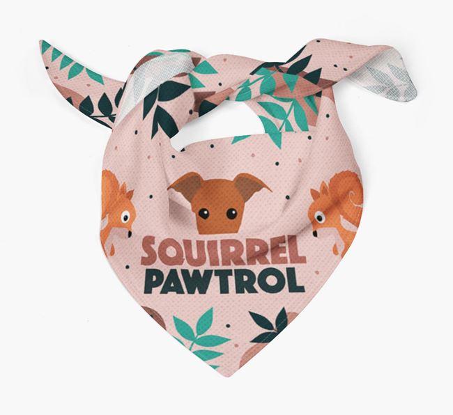 'Squirrel Pawtrol' - Personalized Whippet Bandana