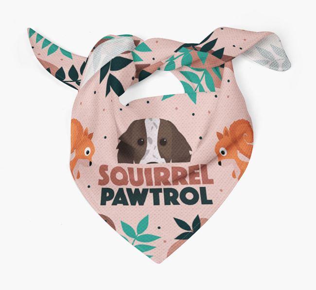 'Squirrel Pawtrol' - Personalised Working Cocker Spaniel Bandana