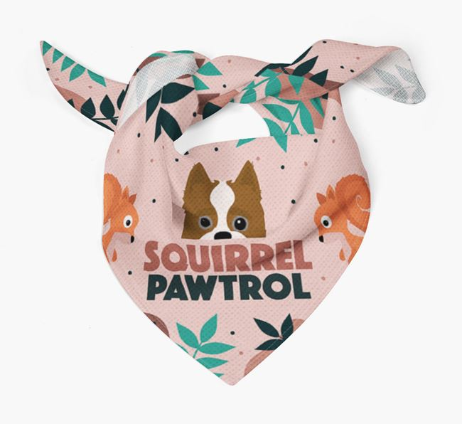 'Squirrel Pawtrol' - Personalised Yorkipoo Bandana