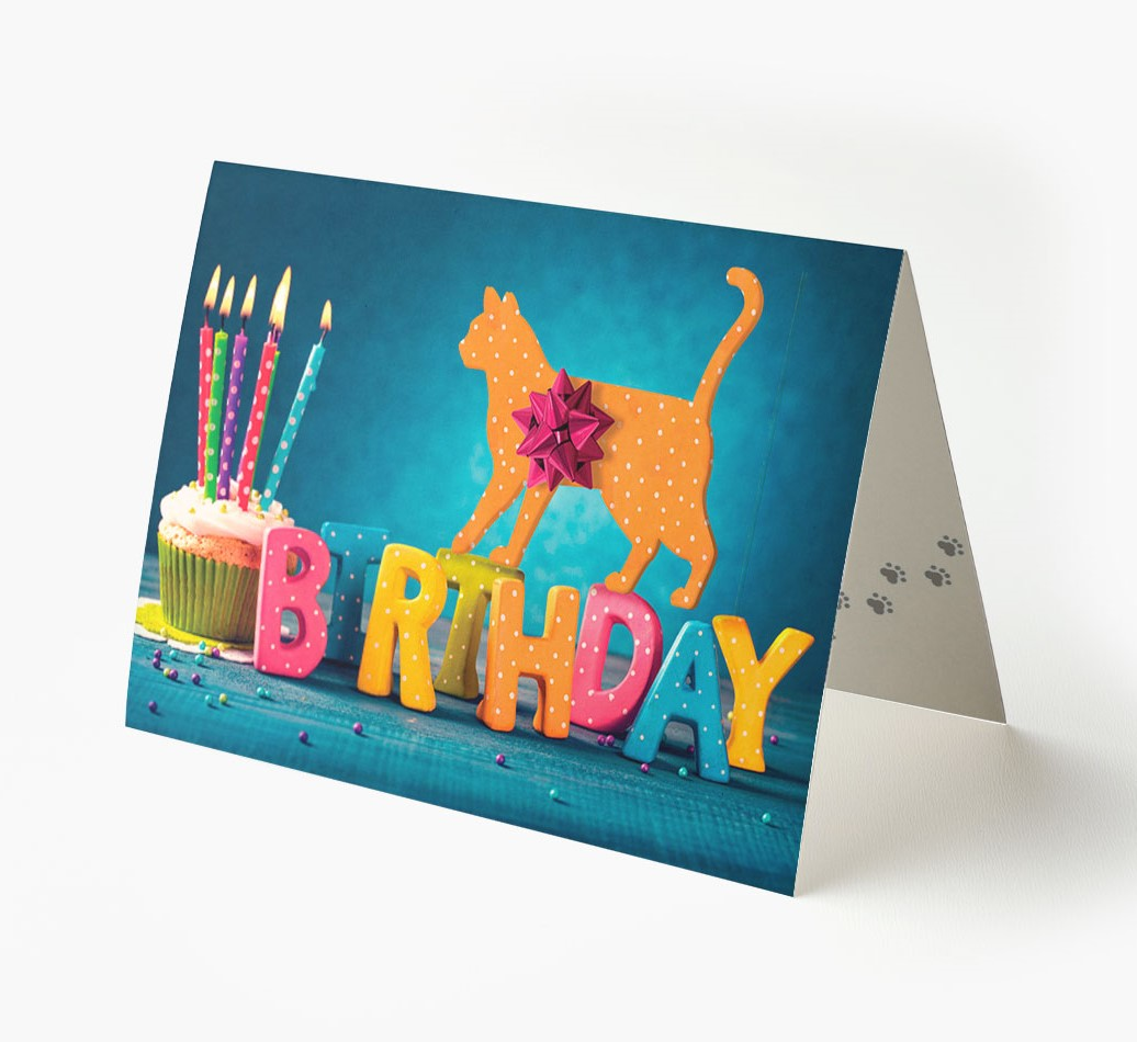 Birthday Gifts Card with Icon of your Cat