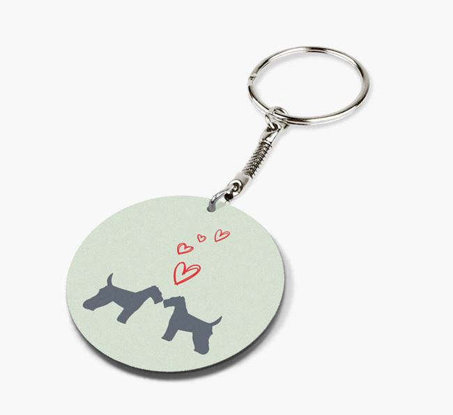 Double-sided Keyring 'Live. Love. Bark.'