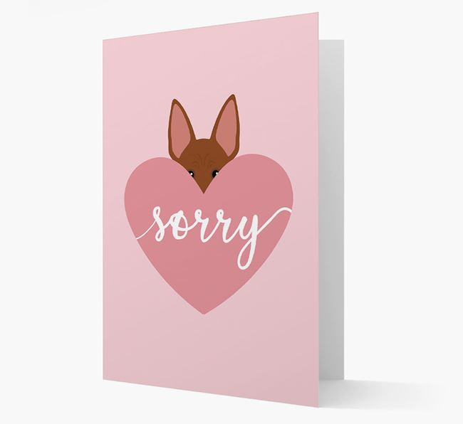'Sorry' - Personalized American Hairless Terrier Card