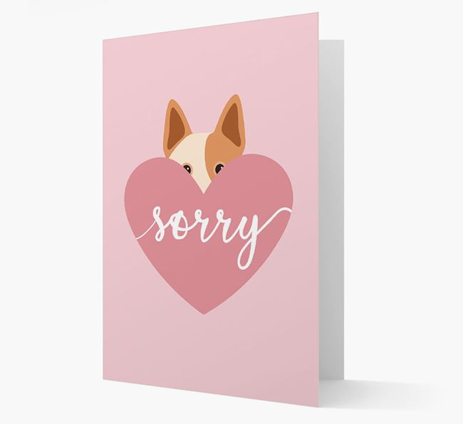 'Sorry' - Personalized Australian Cattle Dog Card