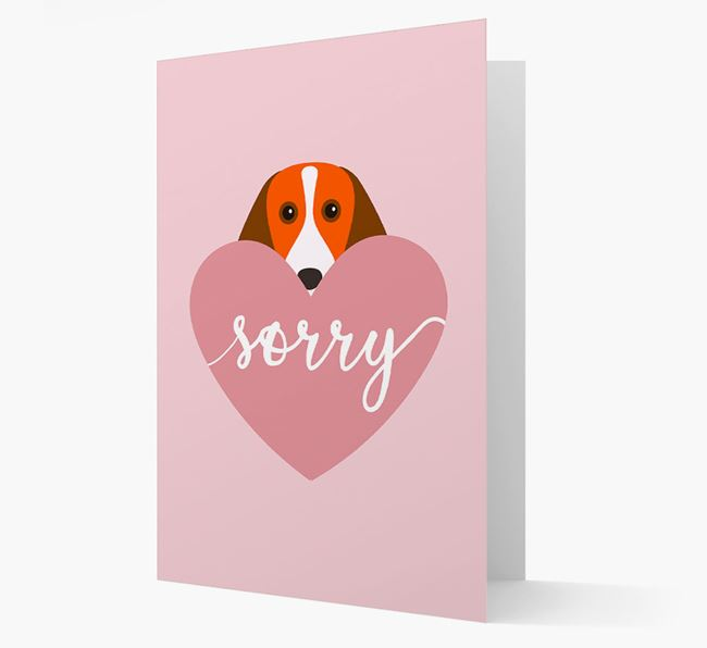 'Sorry' - Personalised Beagle Card