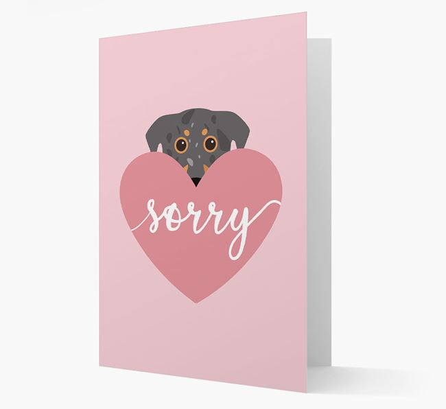 'Sorry' - Personalized Beauceron Card