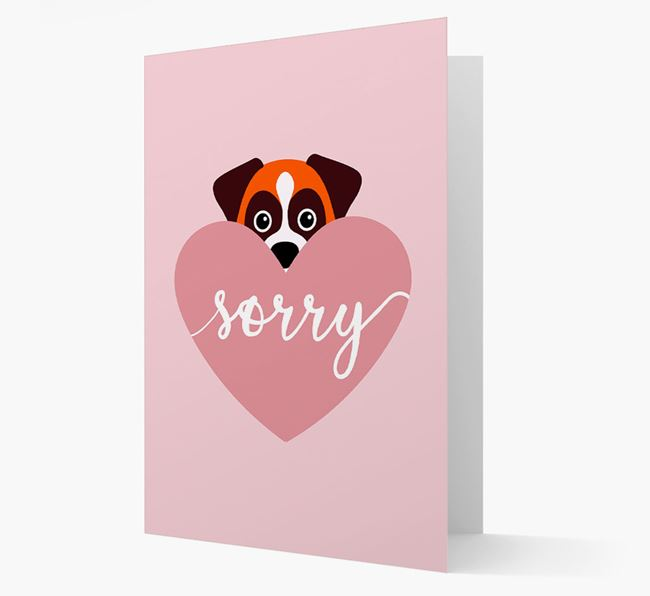 'Sorry' - Personalised Dog Card