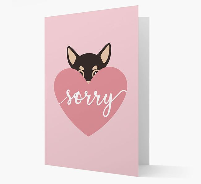 'Sorry' - Personalized Chihuahua Card