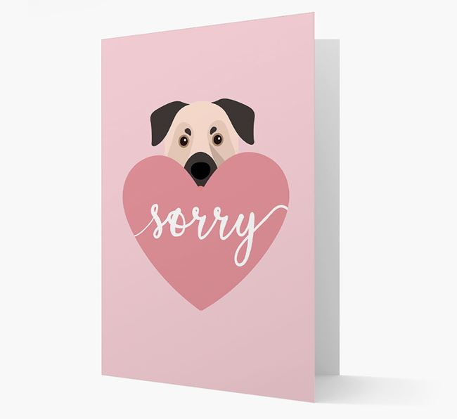 'Sorry' - Personalized Chinook Card