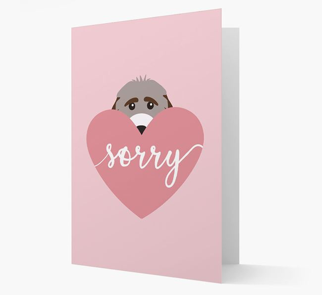 'Sorry' - Personalised Cockapoo Card