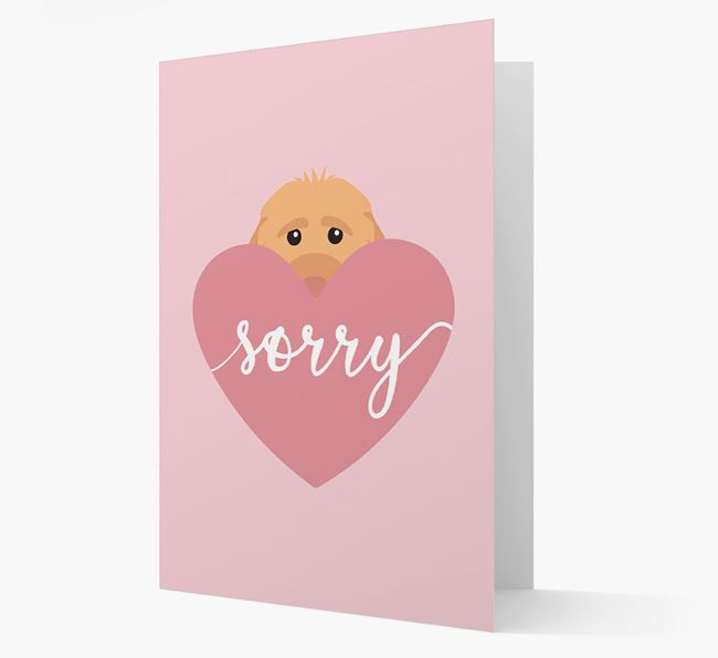 'Sorry' - Personalized Cockapoo Card