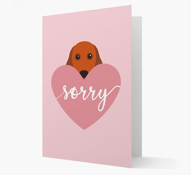 'Sorry' - Personalized Cocker Spaniel Card