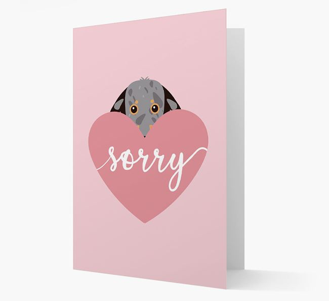 'Sorry' - Personalised Dachshund Card