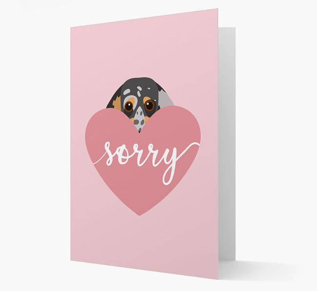 'Sorry' - Personalized Dachshund Card