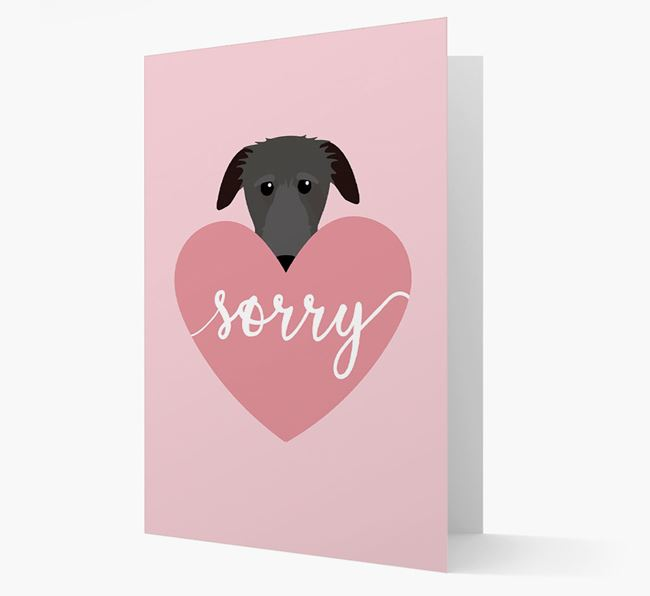 'Sorry' - Personalized Deerhound Card