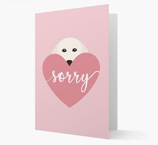 'Sorry' - Personalised Golden Retriever Card