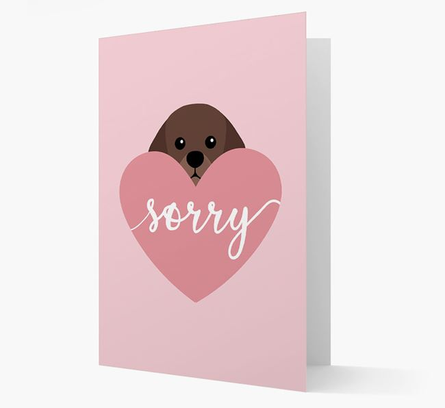 'Sorry' - Personalized King Charles Spaniel Card