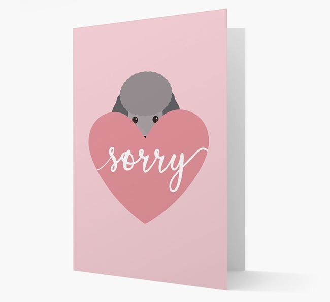 'Sorry' - Personalized Miniature Poodle Card