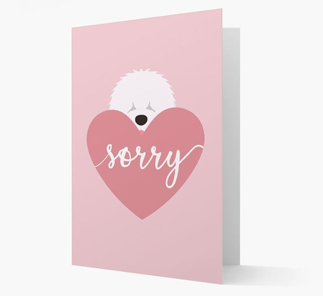 'Sorry' - Personalized Old English Sheepdog Card