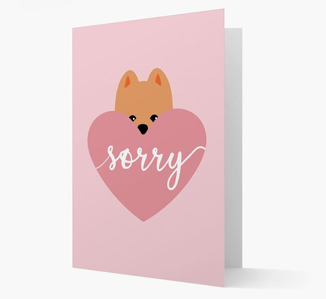 'Sorry' - Personalised Pomeranian Card