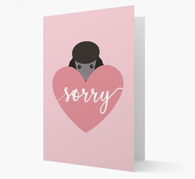 'Sorry' - Personalised Poodle Card
