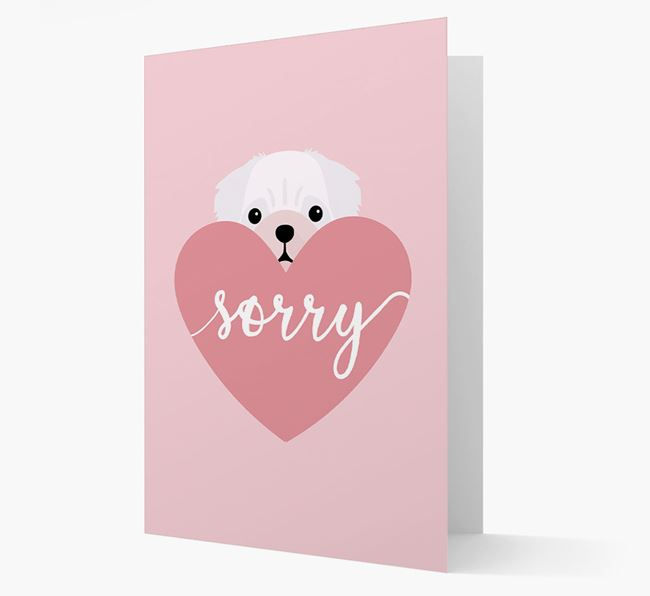 'Sorry' - Personalized Pug Card