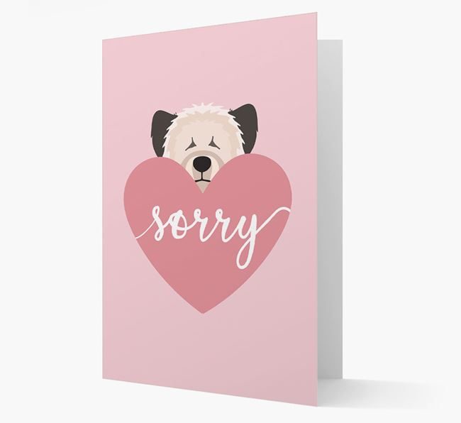 'Sorry' - Personalized Skye Terrier Card