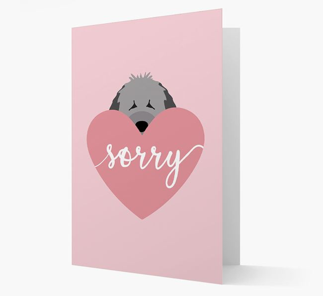 'Sorry' - Personalized Spanish Water Dog Card