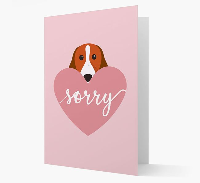 'Sorry' - Personalized Springer Spaniel Card