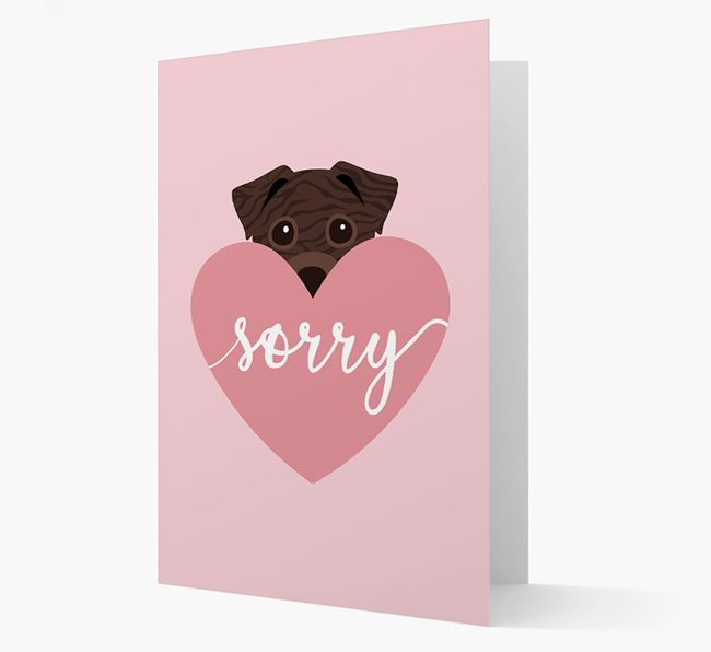 'Sorry' - Personalized Staffy Jack Card