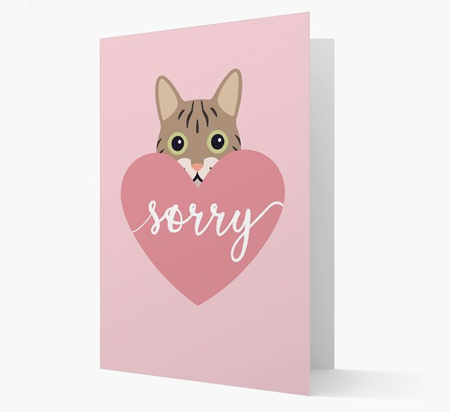 'Sorry' - Personalized Cat Card