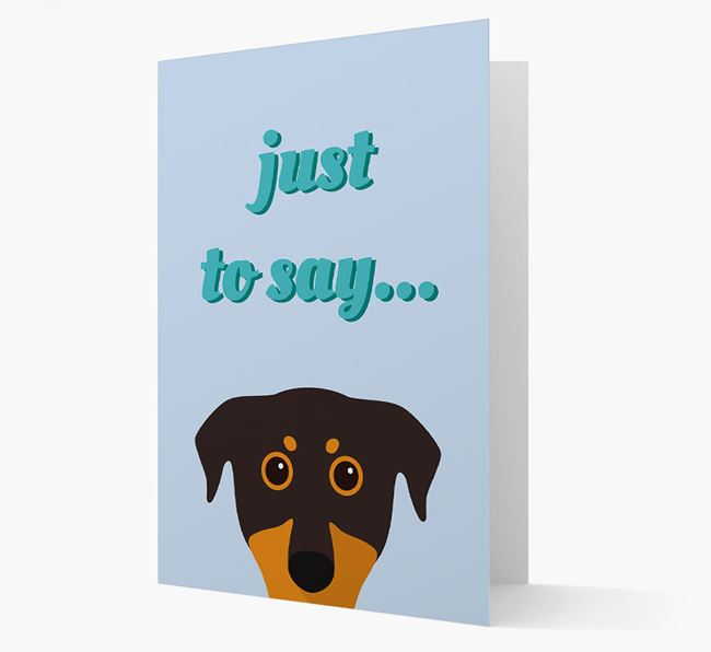 'Just to Say' - Personalized Beauceron Card